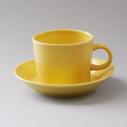 ARABIA / Kaj Franck [ TEEMA ] coffeecup & saucer (140ml/yellow)