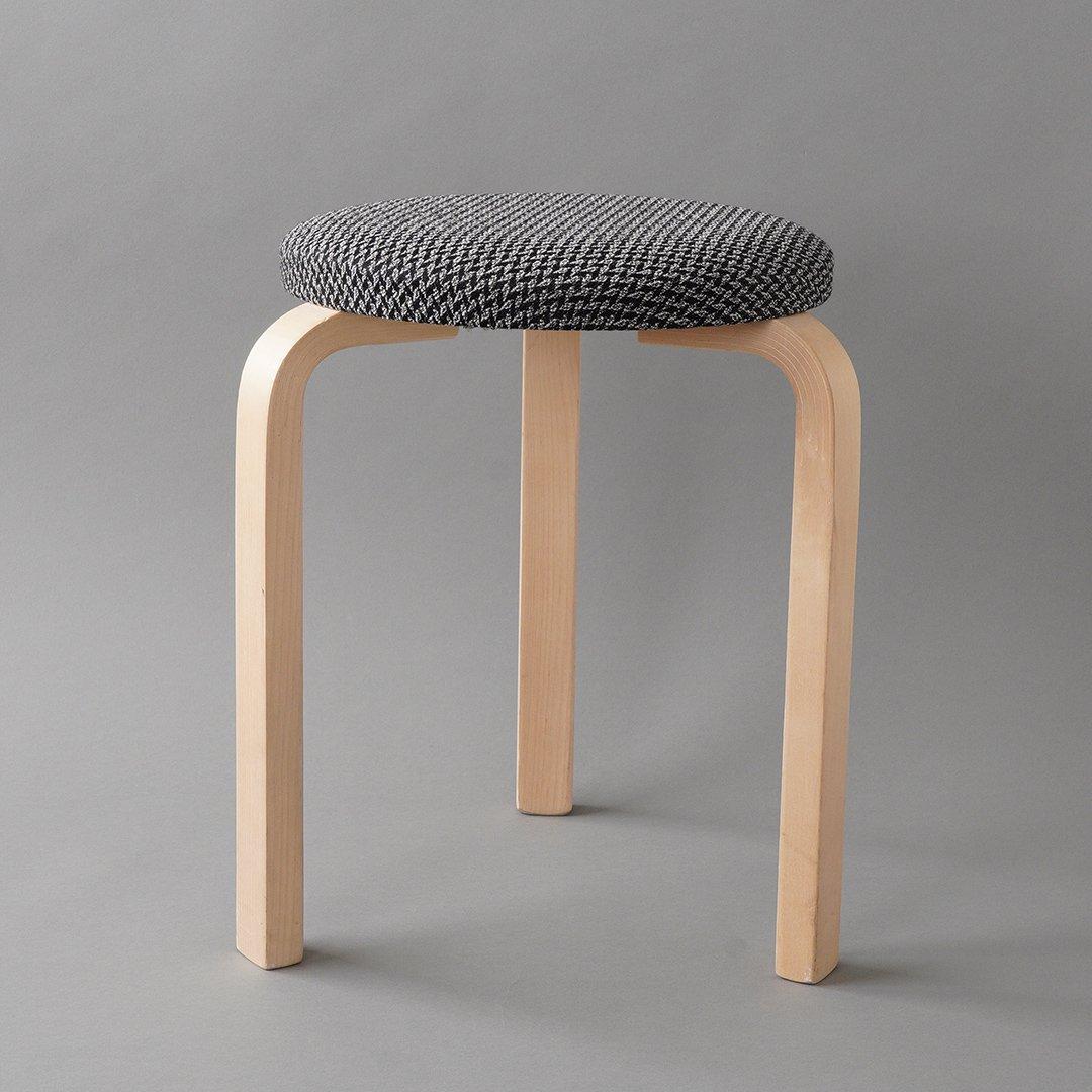 artek / Alvar Aalto [ Stool 60 / Houndstooth 2008 ] used stool