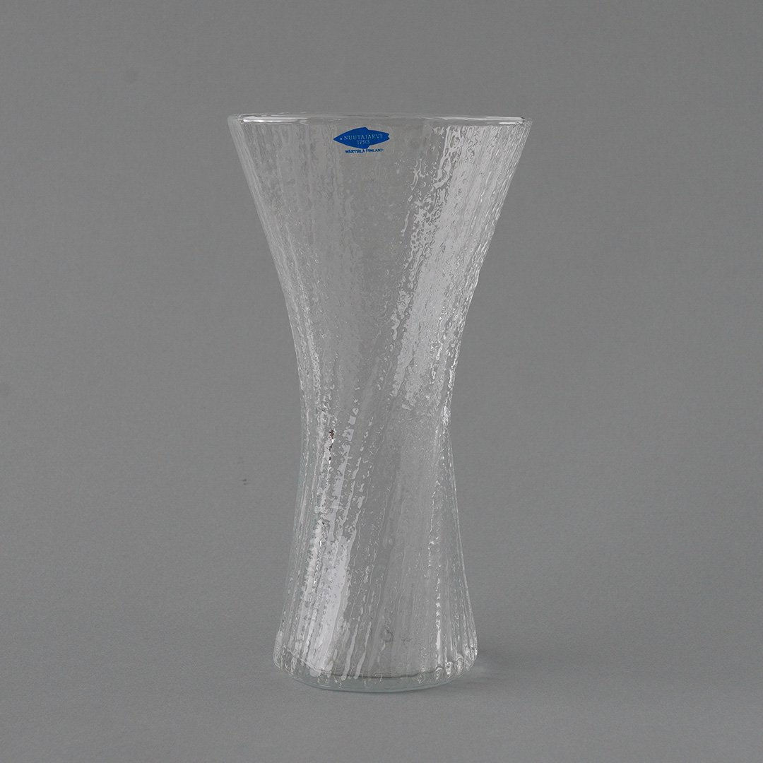 Nuutajarvi / Oiva Toikka [ Vilja - 17.5cm ブランドシールあり] flower vase (C)