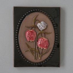JIE Gantofta / Aimo Nietosvuori [ Kungsangslilja Uppland - アミガサユリ ] ceramic wall plate