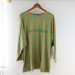 <img class='new_mark_img1' src='https://img.shop-pro.jp/img/new/icons48.gif' style='border:none;display:inline;margin:0px;padding:0px;width:auto;' />marimekko vintage [ TASARAITA LOGO ] 長袖Tシャツ