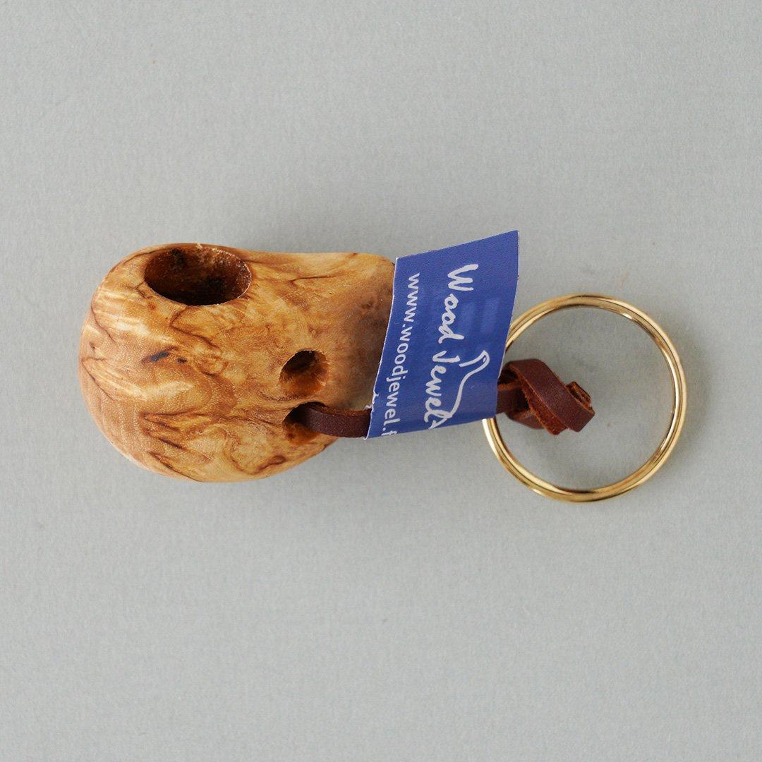 Wood Jewel Finland - 白樺のキーホルダー(ククサ)
