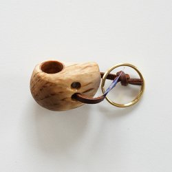Wood Jewel Finland [ Kuksa ] 白樺のキーホルダー(ククサ)