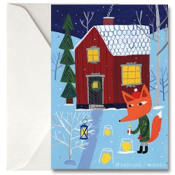 Kehvola Design / Matti Pikkujamsa [ Joulun valot ] greeting card