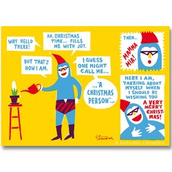 Kehvola Design / Timo Manttari [ Christmas person ] postcard