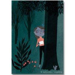 Kehvola Design / Marika Maijala [ Mysterious ] postcard