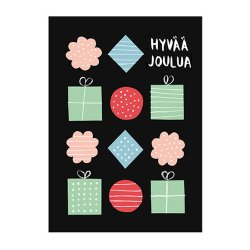 POLKKA JAM [ HYVAA JOULUA - Paketit ] postcard