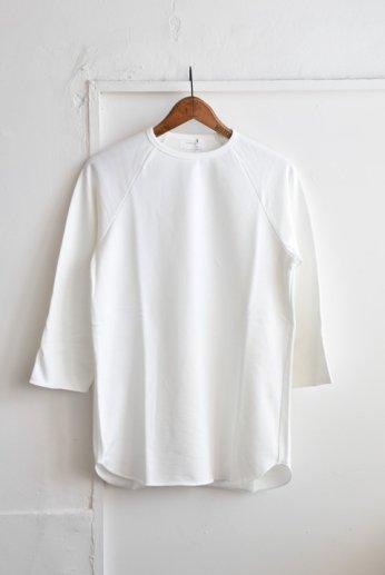 SPINNER BAIT(スピナーベイト)ミニ裏毛ラグランクルー7分袖 ホワイト