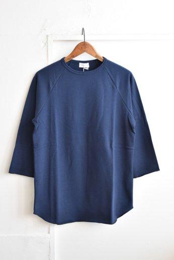 SPINNER BAIT(スピナーベイト)ミニ裏毛ラグランクルー7分袖 ネイビー