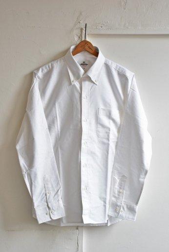 H by FIGER(エイチバイフィガー)オックスフォード無地ボタンダウンシャツ ホワイト