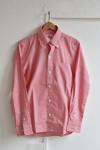 H by FIGER(エイチバイフィガー)ギンガムチェックボタンダウンシャツ レッド