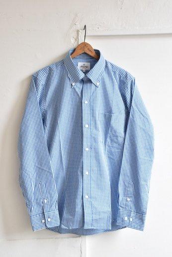 H by FIGER(エイチバイフィガー)ギンガムチェックボタンダウンシャツ ブルー