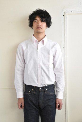 H by FIGER(エイチバイフィガー)キャンディーストライプボタンダウンシャツ ピンク
