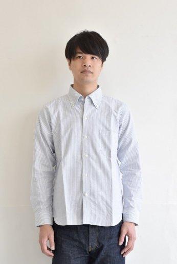 H by FIGER(エイチバイフィガー)キャンディーストライプボタンダウンシャツ ネイビー