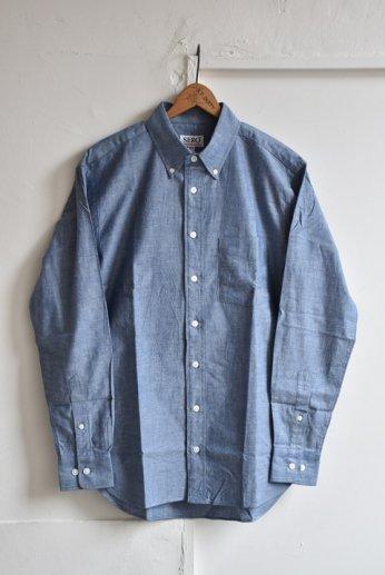 SERO(セロ)ボタンダウンシャツ シャンブレー ブルー