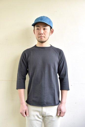 SPINNER BAIT(スピナーベイト)ミニ裏毛ラグランクルー7分袖 ダークオリーブ