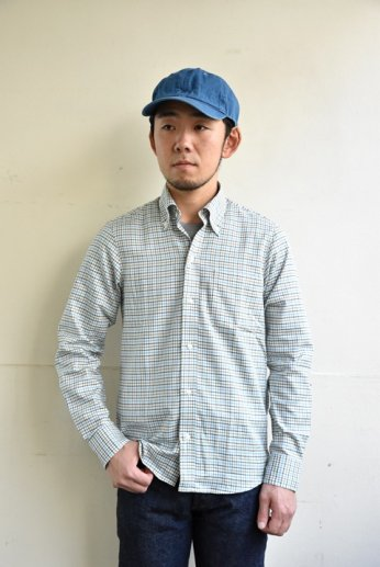 H by FIGER(エイチバイフィガー) タッタソールボタンダウンシャツ ブルー