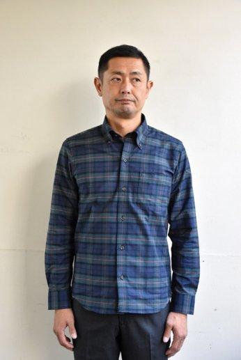 H by FIGER(エイチバイフィガー) タータンチェックボタンダウンシャツ グリーン/レッド