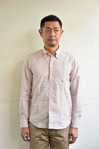 H by FIGER(エイチバイフィガー) タッタソールボタンダウンシャツ ベージュ