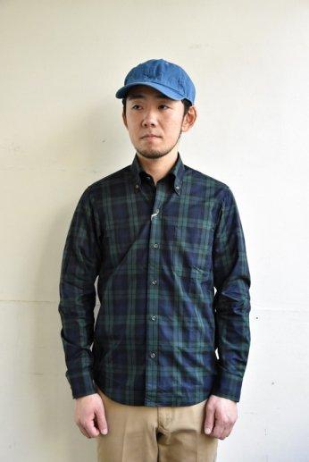 H by FIGER(エイチバイフィガー) タータンチェックボタンダウンシャツ ブラックウォッチ