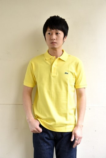 <img class='new_mark_img1' src='//img.shop-pro.jp/img/new/icons13.gif' style='border:none;display:inline;margin:0px;padding:0px;width:auto;' />LACOSTE(ラコステ) 半袖ポロシャツ レモンイエロー