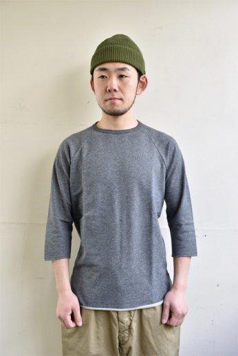SPINNER BAIT(スピナーベイト)ミニ裏毛ラグランクルー7分袖 チャコールトップ