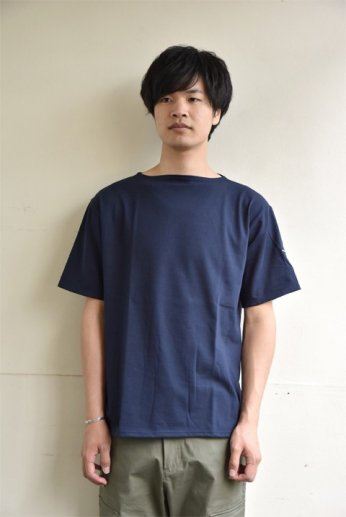 Saint James(セントジェームス) PIRIAC(ピリアック) 半袖Tシャツ NAVY(ネイビー)