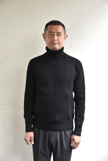 Vincent et Mireille(ヴァンソン エ ミレイユ)タートルネックセーター ブラック