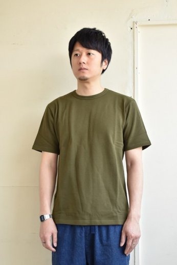 SPINNER BAIT(スピナーベイト)ミニ裏毛半袖Tシャツ モスグリーン
