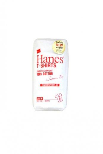 Hanes(ヘインズ)ジャパンフィット クルーネックTシャツ 2パック ホワイト (5.3oz)