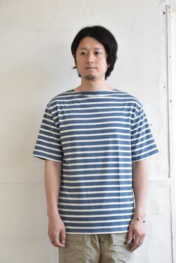 Saint James(セントジェームス) PIRIAC(ピリアック)半袖Tシャツ JEAN/CHANVRE(インディゴ×オートミール)