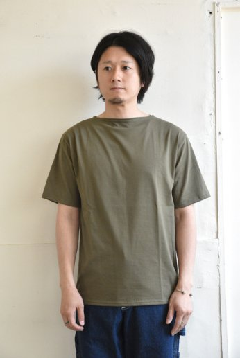 Saint James(セントジェームス) PIRIAC(ピリアック)半袖Tシャツ LICHEN(カーキ)