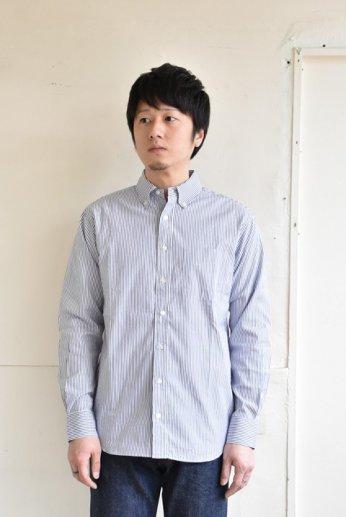 SERO(セロ)ボタンダウンシャツ ロンドンストライプ ネイビー