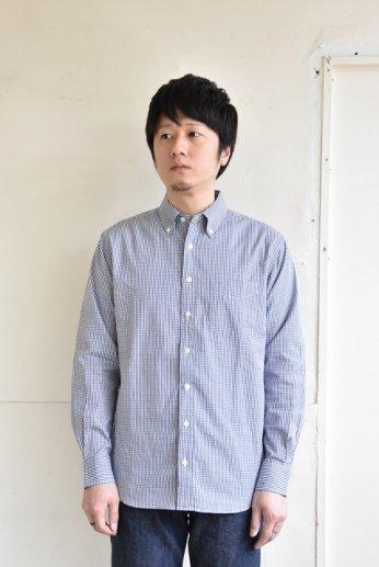 SERO(セロ)ボタンダウンシャツ ギンガムチェック ネイビー
