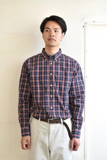 SERO(セロ)ボタンダウンシャツ タータンチェック ネイビーチェック