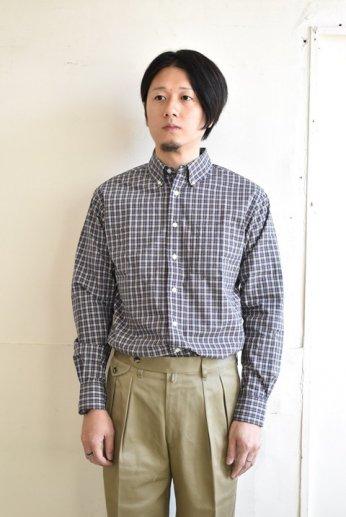 SERO(セロ)ボタンダウンシャツ タータンチェック  ブラウンチェック