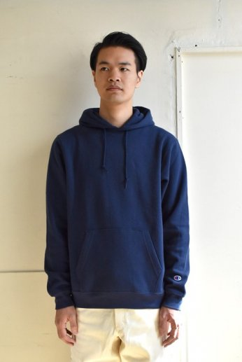 Champion(チャンピオン) USA 9oz P/O HOODED SWEATSHIRT ネイビー