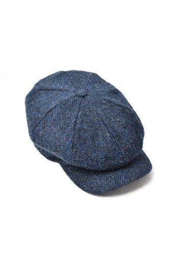 Hanna Hats(ハンナハッツ) Abbey Cap Tweed ネイビー ヘリンボーン