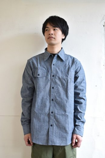 TELLASON(テラソン) LONG SLEEVE CHAMBRAY SHIRT