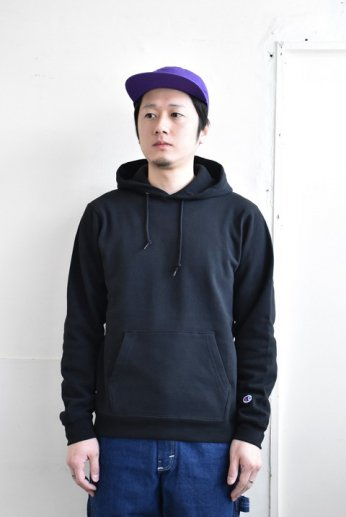 Champion(チャンピオン) USA 9oz P/O HOODED SWEATSHIRT  ブラック