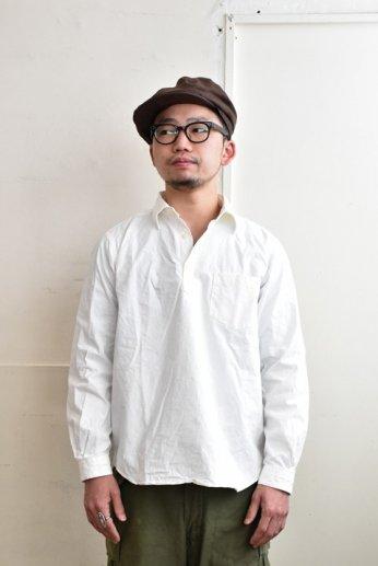 SPINNER BAIT(スピナーベイト) 馬布ヴィンテージフィニッシュP/Oシャツ ホワイト