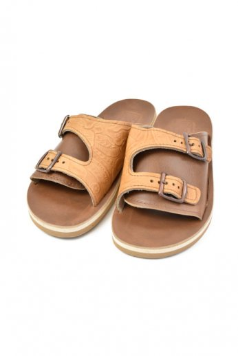THE SANDALMAN(サンダルマン) DOUBLE BUCKLE SANDAL vibram Tan/Brown