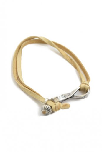 NORTH WORKS(ノースワークス) TWIST COIN LEATHER BRACELET A
