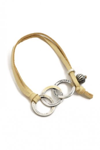 NORTH WORKS(ノースワークス) TWIST COIN LEATHER BRACELET C