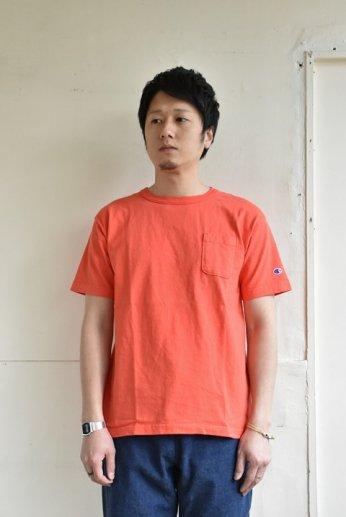 Champion(チャンピオン) T1011 ポケット付きTシャツ オレンジ