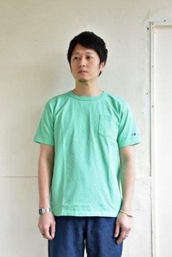 Champion(チャンピオン) T1011 ポケット付きTシャツ ミントグリーン