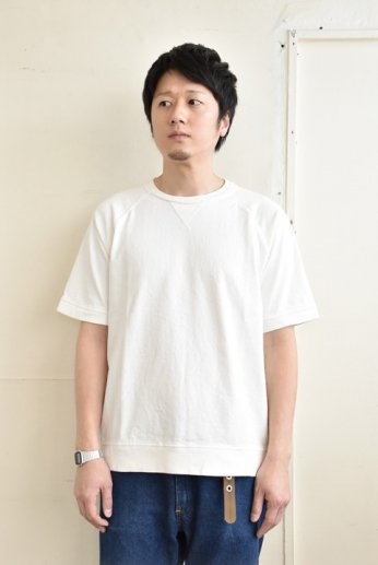 PANNILL(パニール)クルーネックラグランスリーブTシャツ ホワイト