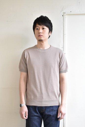 HARRISS(ハリス)半袖ニットTシャツ ベージュ