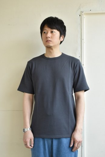 SPINNER BAIT(スピナーベイト)ミニ裏毛半袖Tシャツ ダークオリーブ