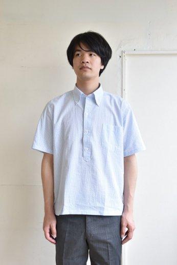 H by FIGER(エイチバイフィガー)シアサッカーB.Dシャツ サックス